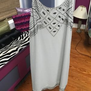 Beautifully Beaded Pale Blue Cocktail Dress